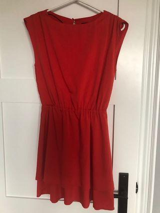 H and M red dress. Size 4