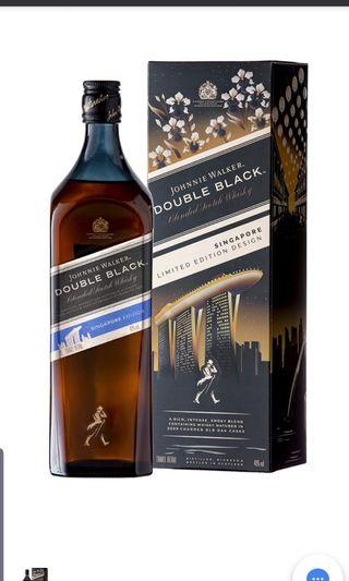 JOHNNIE WALKER Double Black Singapore Limited Edition 1L