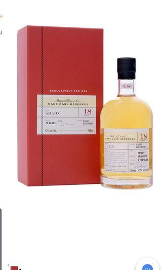 WILLIAM GRANTS RARE CASK RESERVES: ARAID  18 YO 0.7 L