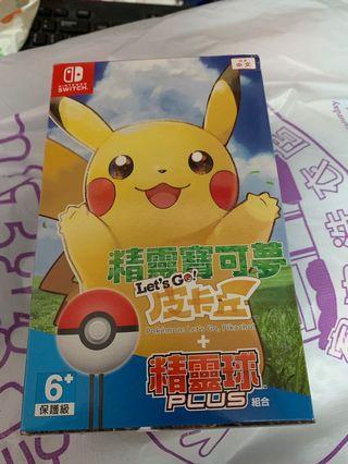 Switch Game 精靈寶可夢皮卡丘版全新遊戲連精靈球