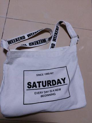 正版Wego白色袋