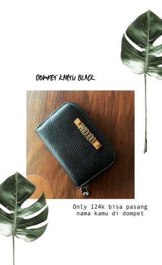 Dompet mini wanita dompet kartu hitam