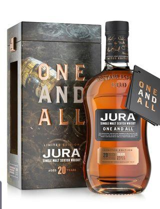 JURA One and All 20 YO 700 small batch limited cask strength Macallan