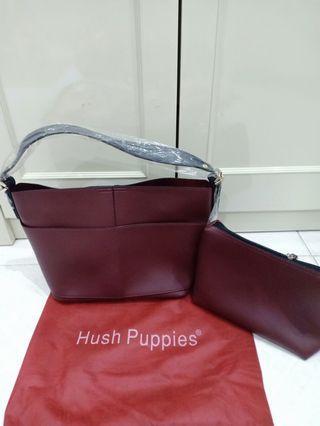 hush puppies shoulder bag maroon