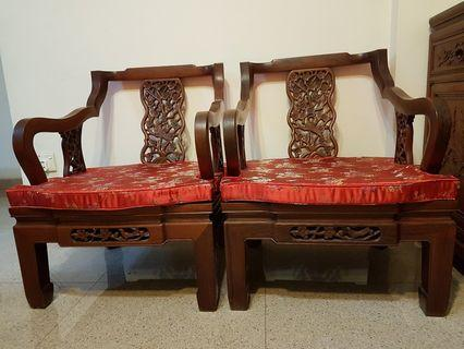 Rosewood Wooden Chair set