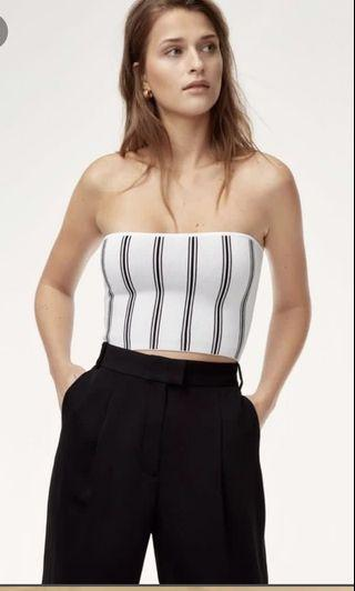 LOOKING FOR - white & black striped essamba tube top