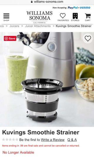 🚚 Kuvings Ice Cream and Smoothie Maker Attachment Set