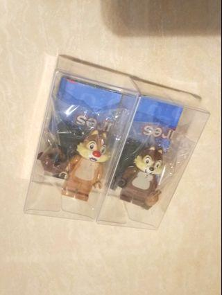Disney LEGO minifigure series 2 樂高 積木 人仔 大鼻鋼牙 chip & dale