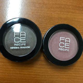 Face Recipe Mineral Shadow - Eye Shadow warna Gold Rush dan Runaway Bride
