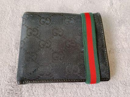 Authentic Gucci Black Web Band Wallet
