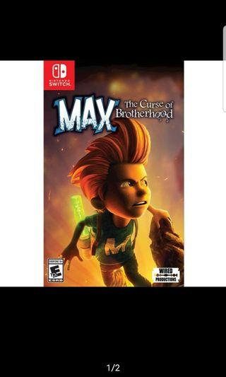 Nintendo Switch Max The Curse Of Brotherhood