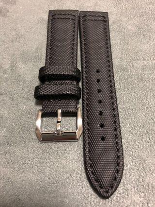 20mm Black Canvas Watch Straps