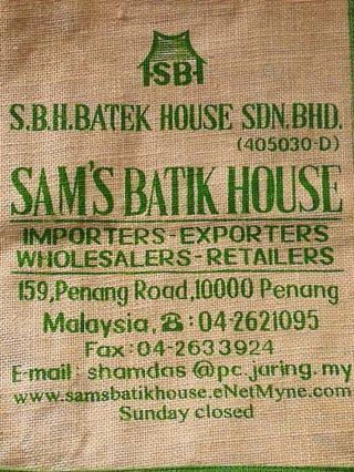 🏝️ SAM'S BATIK HOUSE JUTE BAG