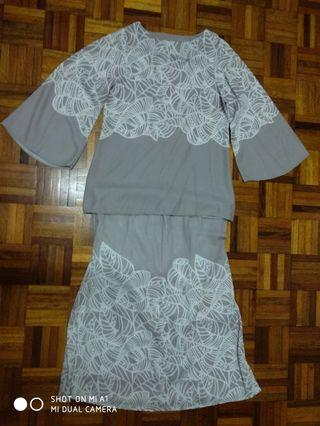 Baju Kurung Grey Colour