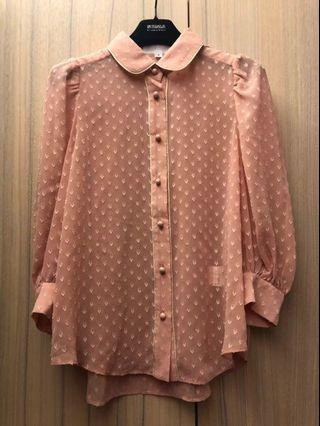 *全新*JILL STUART立體愛心造型七分袖襯衫