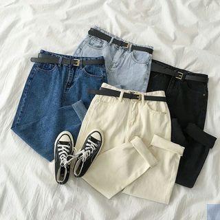 Dark Blue Korean Style Jeans
