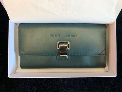 Proenza Schouler Lam Leather Wallet (Dark Green)