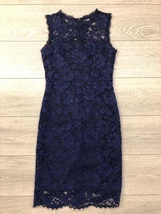Blue / Navy Lace work Dress