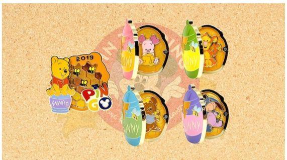 <代購> Disney pins  Pin go  Pooh 迪士尼襟章 迪士尼徽章