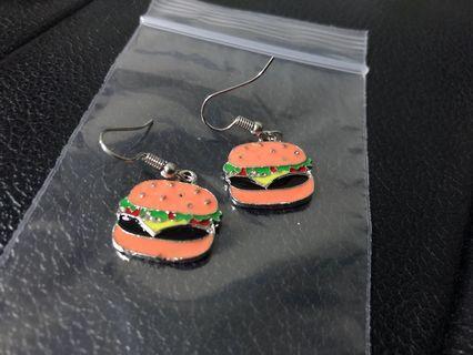New! FREE Mailing! Hamburger Earrings!