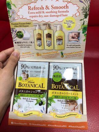 Diane Botanical shampoo and treatment conditioner sample