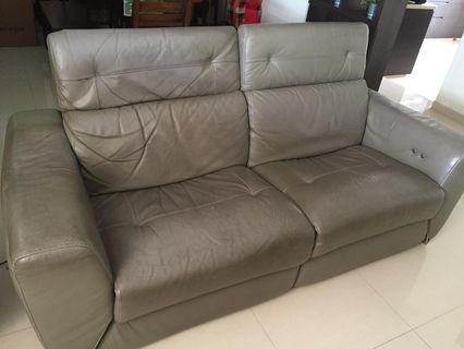 🚚 Castilla reclining 2 seater leather sofa