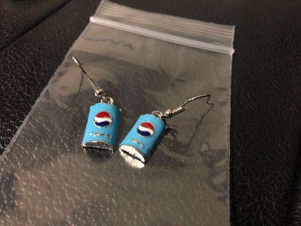 New! FREE Mailing! Pepsi Earrings