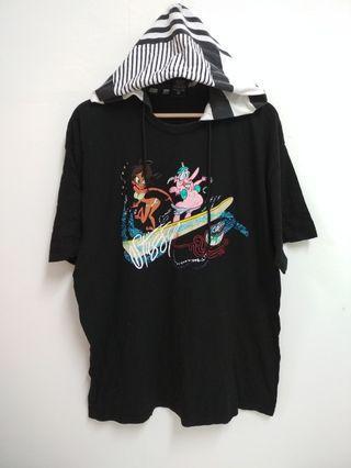 STUSSY hooded T-Shirt
