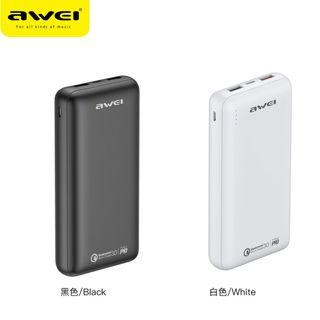 AWEI 20000mAh 外置充電器 充電寶 Power Bank PD 快充 QC3.0 快充 手機 Switch Macbook P96K
