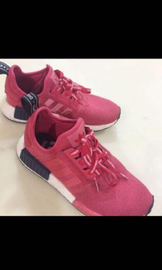 BNIB Adidas NMD R1 W Grey Heather Raw Pink (BY9648