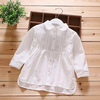 Kids Girl Casual White Long Sleeve Blouse 1-6Y