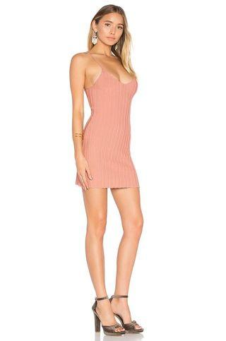 SIMONE TANK KNIT MINI DRESS - SALMON PINK