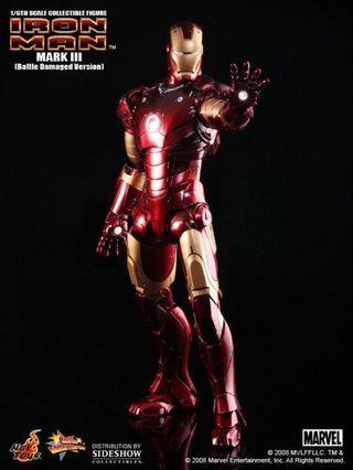 Hot Toy MMS110 Battle Damaged Iron Man Mark 3 not Predator alien
