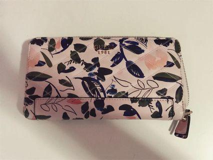 Guess Floral Large Zip Around Wallet