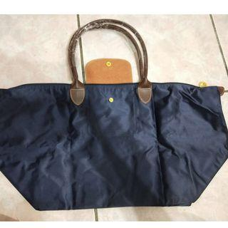 【全新】Longchamp造型 長柄大號 尼龍 購物袋 摺疊包