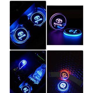 Toyota Logo LED Cup Mat x 2pcs