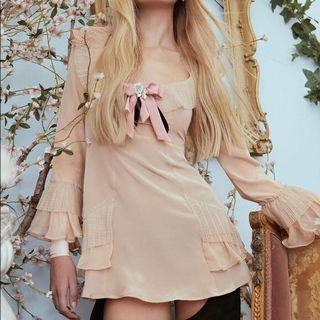 EVIE MINI DRESS - CHAMPAGNE
