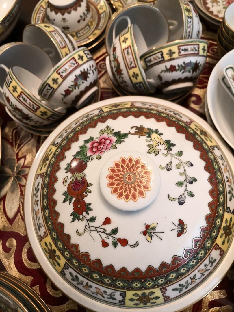 70 年代江西景德鎮福祿三多碗碟一套