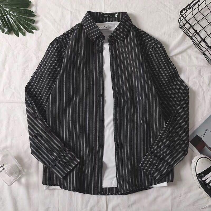 男生條紋襯衫