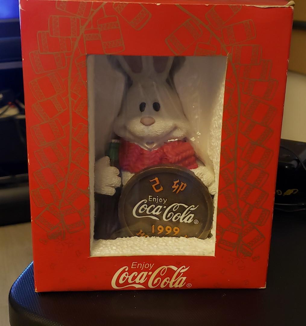 Coca Cola  可口可樂收藏品 1999年 兔年錢罂