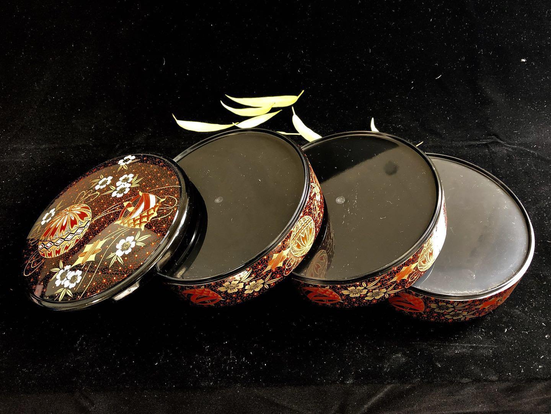 日本直郵 中古品 漆器 食物盒 和食 壽司盒