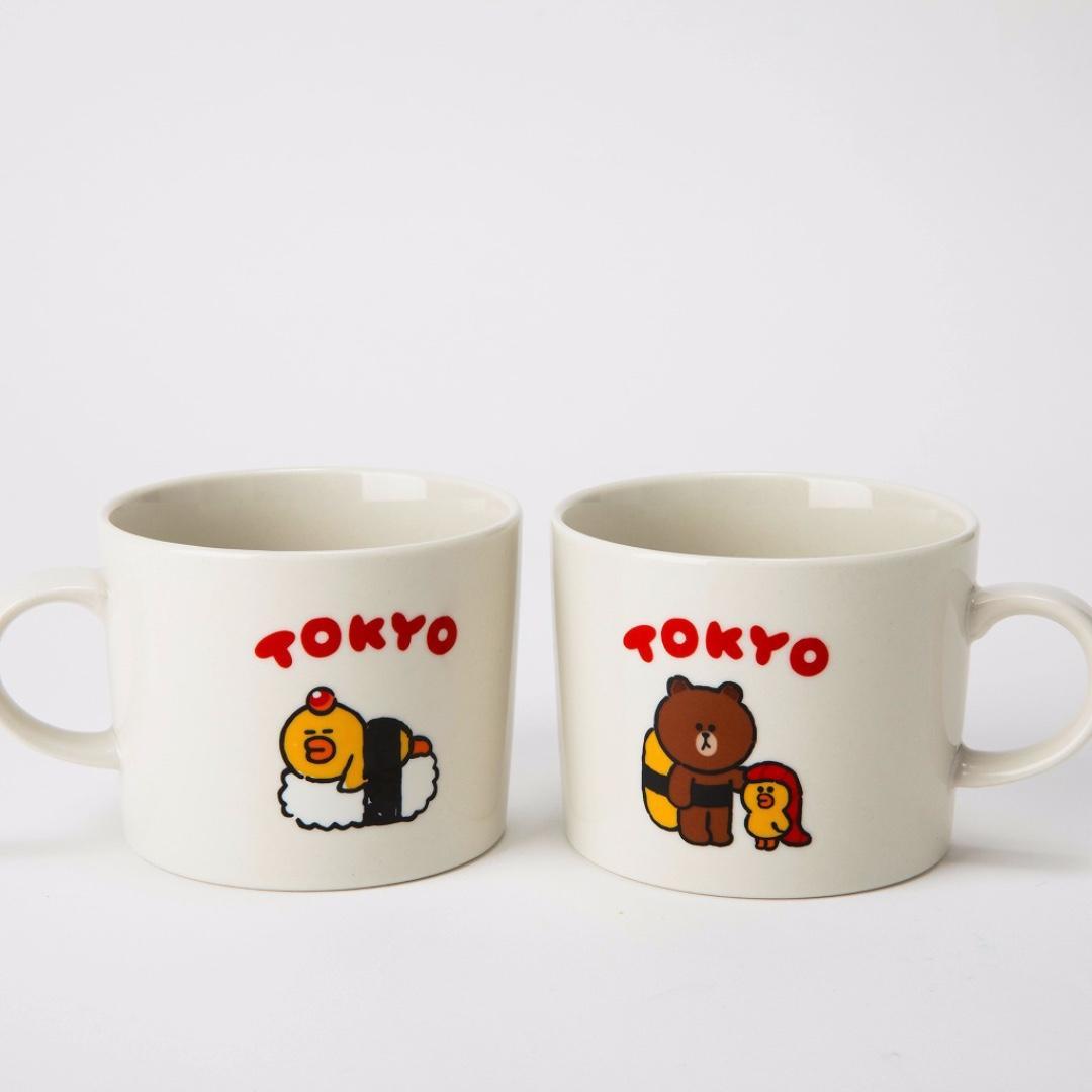 #日本代購 #現貨🇯🇵 Line Friends Brown Sally 雙面 陶瓷杯🍵 🌟日本限定