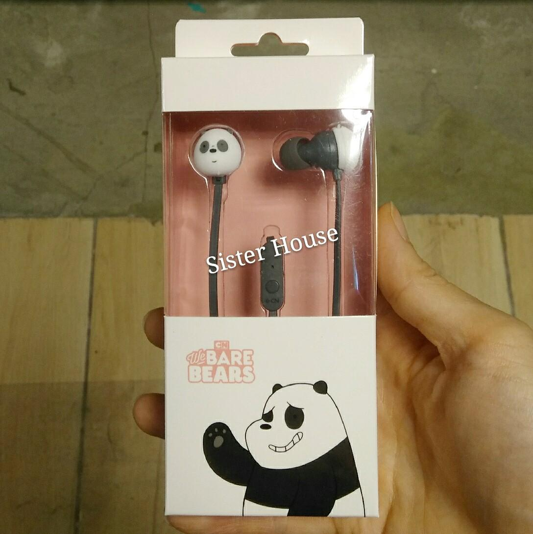 (包郵) 🇰🇷 We Bare Bears Panpan Earphones 熊貓耳筒/耳機