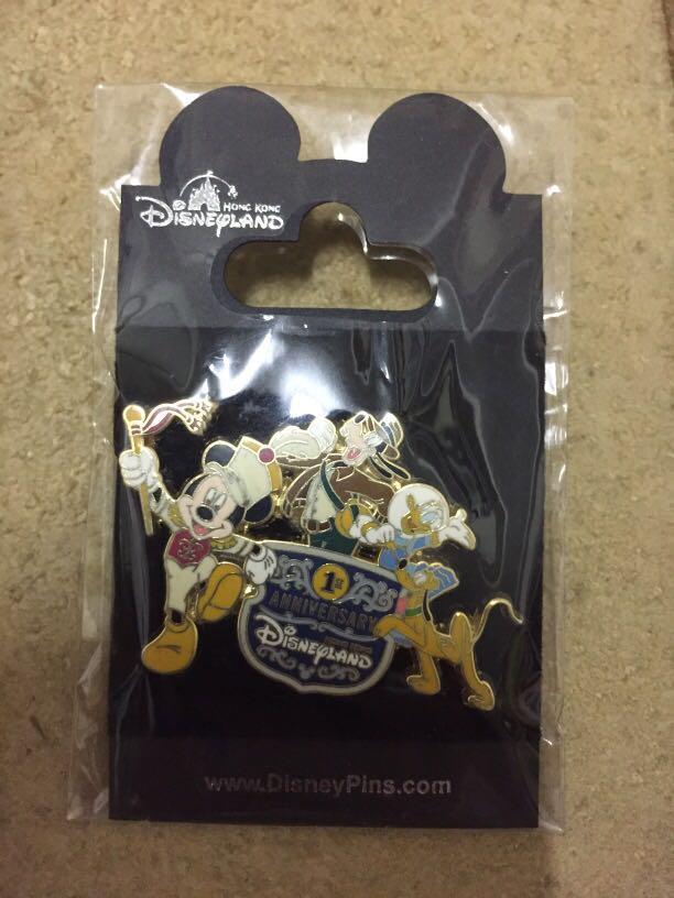 迪士尼襟章 Hong Kong Disneyland 1st Anniversary Pin