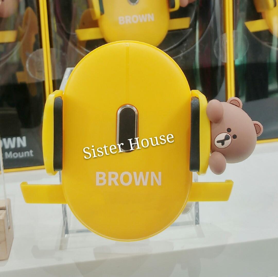 🇰🇷 LINE Friends Brown Cell Phone Holder 車用手提電話座/支架