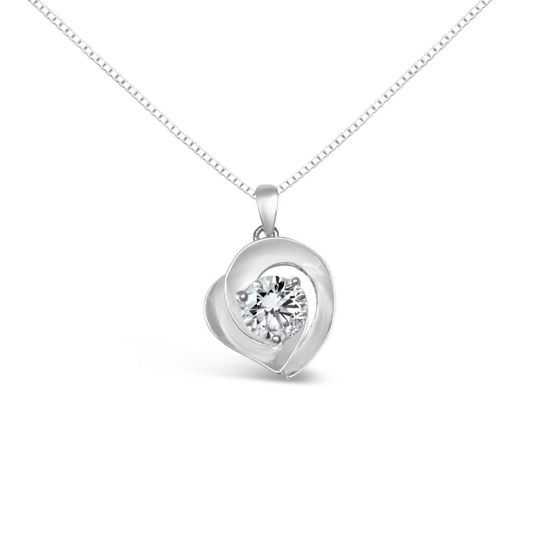 一卡莫桑鑽石頸鏈母親節禮物 Moissanite Diamond Necklace Mothers Day Gift