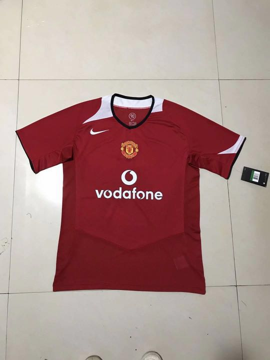 1238c21764d 🔥 Retro Manchester United jersey throwback jersey Manchester United ...
