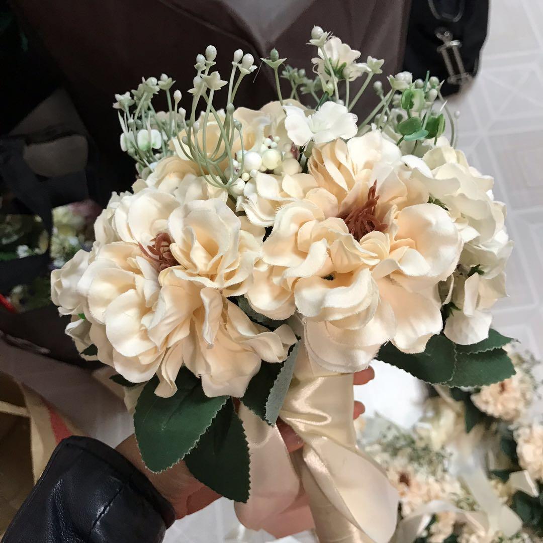 姊妹花球 x6個 絲花花球