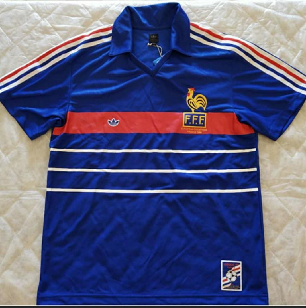 new style df7e2 1969f Adidas France National Team 1984 UEFA Championship Home ...