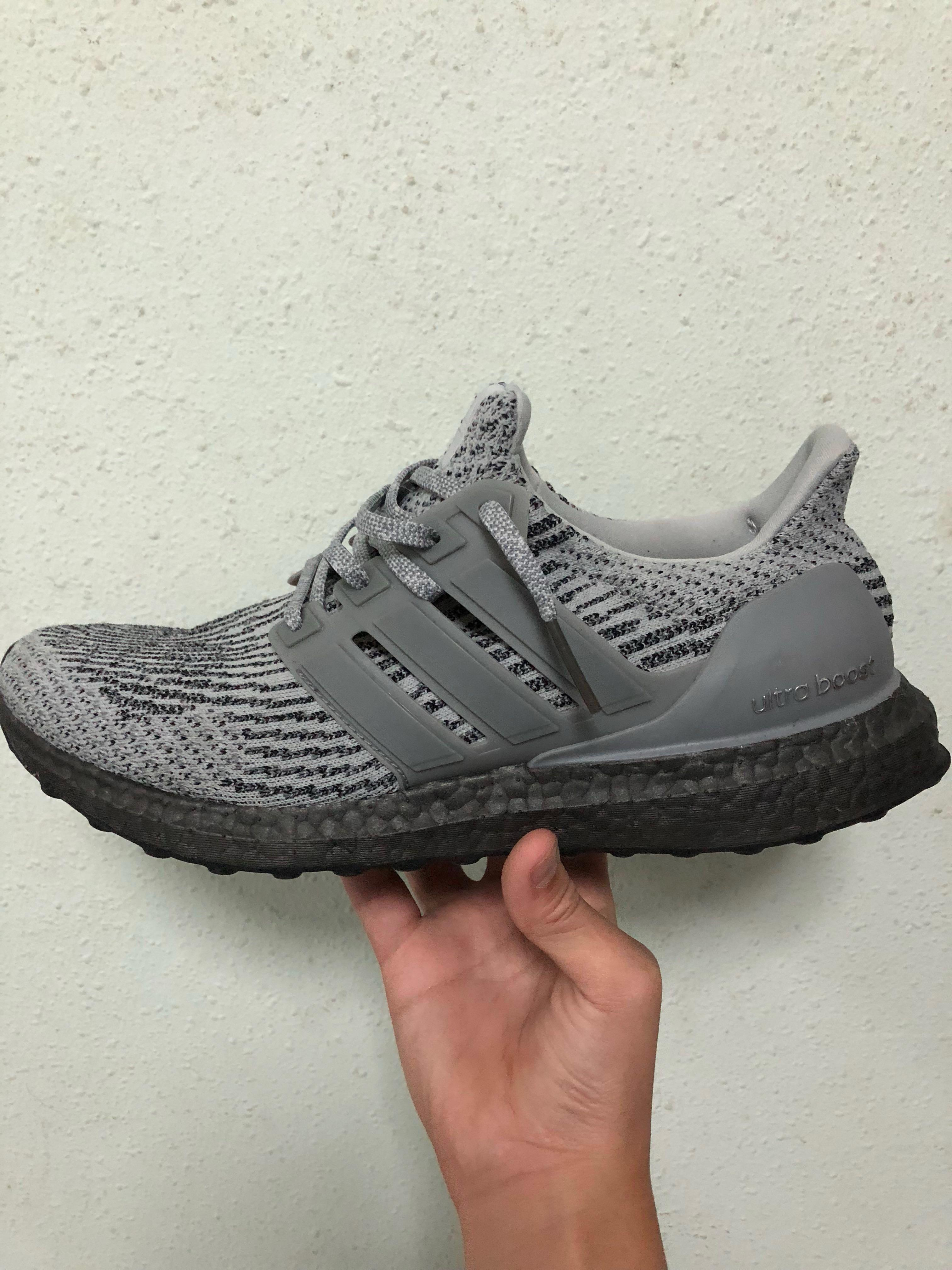 Adidas UltraBoost 3.0 Triple Grey, Men's Fashion, Footwear